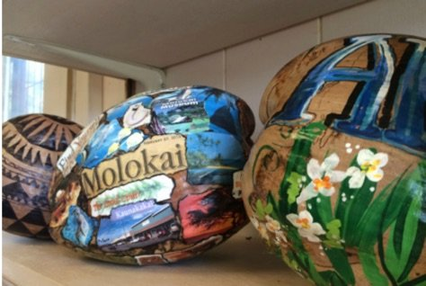 One of the best aloha gifts from Hawaii is mailing a handpainted coconut